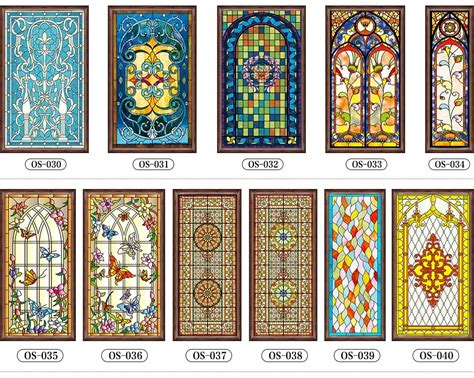 Decorative Window Stained Glass - custom stained glass stickers for windows church home foil