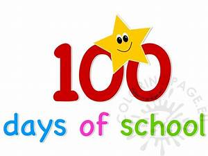 100 days of school clipart | Coloring Page