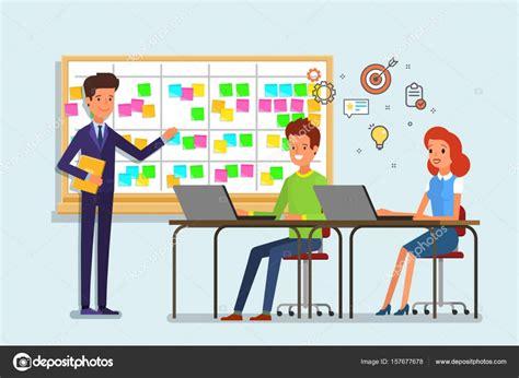 Dibujos: maestros trabajando en equipo Tarjetas de nota