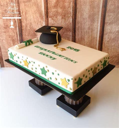 gold  green fondant rectangle rectangular graduation