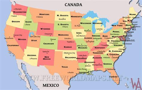 big political map  usa whatsanswer