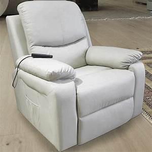 Fauteuil Simili Cuir : fauteuil relax 1 moteur chauffant massant releveur ~ Teatrodelosmanantiales.com Idées de Décoration