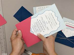free pin stripe wedding invitation template and diy pocket With wedding invitation insert printing service