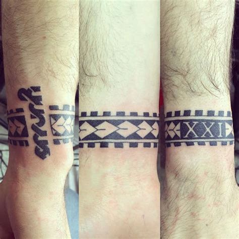 solid wristband tattoos designs