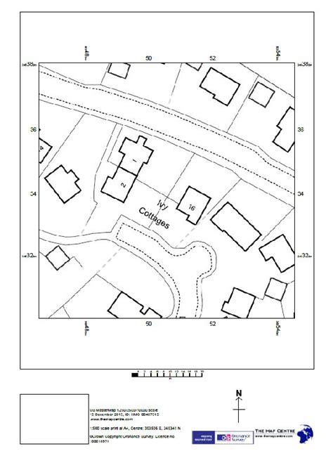 "1500 Ordnance Survey A4 Sitemap ""block Plan""  Pdf By Email"