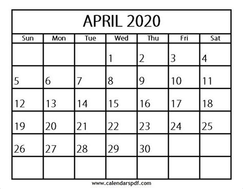 calendar april template design blank calendar