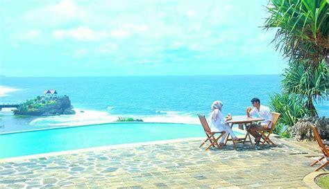 akomodasi  jogja  panorama laut menginap seru