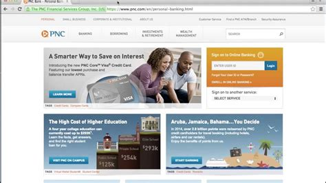 PNC Bank Online Banking Login Instructions - YouTube