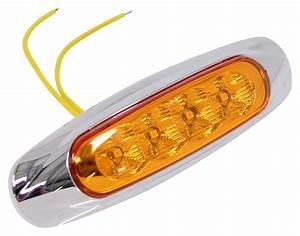 Miro-flex, Led, Clearance, Or, Side, Marker, Light, W, Chrome, Bezel, -, Submerisble, -, 4, Diodes