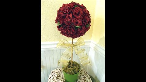 topiary tree  ribbon roses valentine