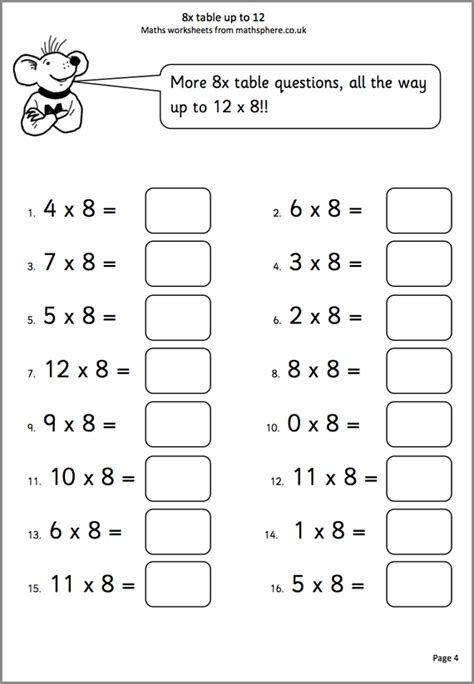 times tables worksheets for 10 year olds brokeasshome com