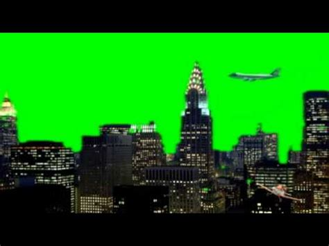 Nyc New York City Planes Fly By Green Screen Animation