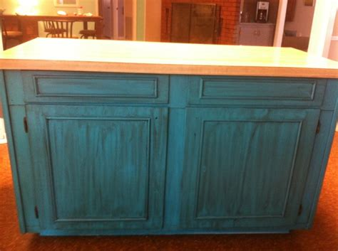 turquoise kitchen island teal turquoise island kitchen distressed home wish list pinterest colors turquoise and