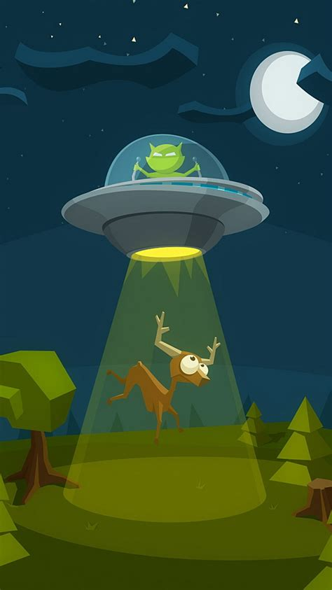 Animated Fly Wallpaper - et flying saucer deer iphone 6 wallpaper hd free