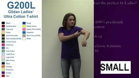 ladies fit gildan  shirt sizing video youtube