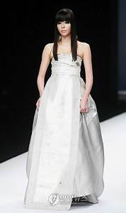 kim min sun is a hanbok bride popseoul With hanbok inspired wedding dress