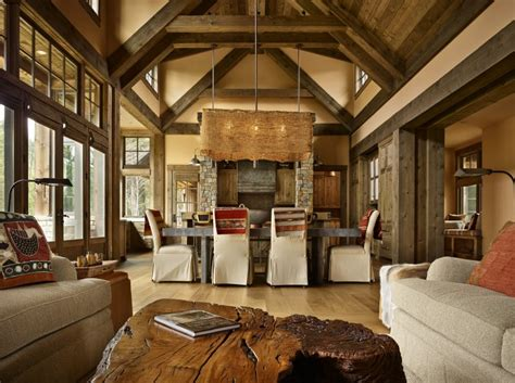 mountain getaway home  elegantly rustic