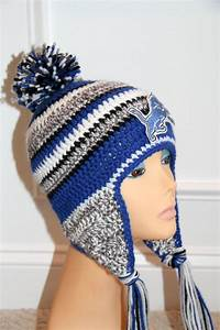 Pdf Crochet Hat Pattern  U0026quot Inspired U0026quot  By Detriot Lions New