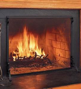 Solid, Steel, Flat, Guard, Fireplace, Screen, 39, U0026quot, W, X, 31, U0026quot, H