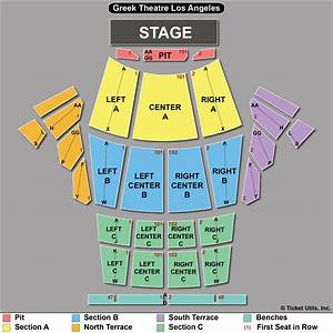 Greek Theater Los Angeles Seating Chart Center Section A Row J Vip Seats Intocable Greek