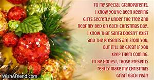 To my special grandparents I know Christmas Message for