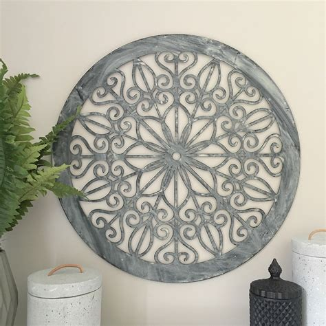 decorative round metal wall panel garden art screen wall decor sculpture outdoor ebay