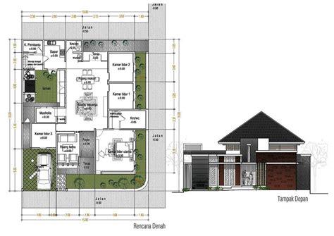 denah rumah  kamar  kolam renang desain rumah kolam