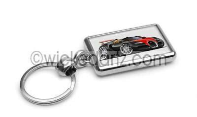 In this mode the car drops from 4.9 inches of ground clearance to just 2.6. RetroArtz Cartoon Car Bugatti Veyron Spider in Black/Red Premium Metal Key Ring | eBay