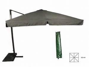 Sonnenschirm 3 Meter Durchmesser : luxus alu ampelschirm sonnenschirm gartenschirm 3 meter rechteckig 3 farben ebay ~ Whattoseeinmadrid.com Haus und Dekorationen