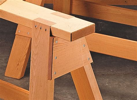 classic sawhorses woodworking project woodsmith plans