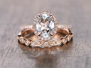 oval cut aquamarine diamond pave halo engagement ring With finding a wedding band to match engagement ring