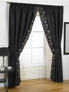 Plain, Curtains, Edged, With, Different, Fabric, How, To, Make, Cheap, Curtains, Look, More, Expensive