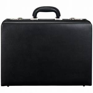 John Lewis Chicago Attache Leather Briefcase in Black for ...