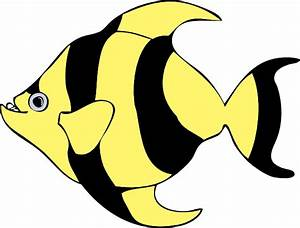 Black Yellow Fish Clip Art at Clker.com - vector clip art ...
