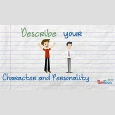 Describe Your Character And Personality In English Youtube