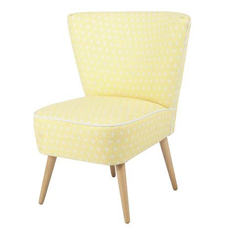 fauteuil de bureau bois fauteuil vintage à motifs en coton jaune scandinave