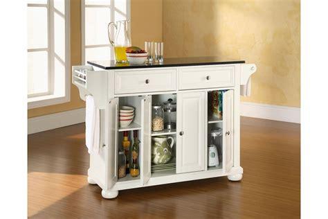 white kitchen island granite top alexandria solid black granite top kitchen island in white