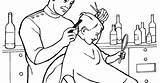 Barber Coloring Barbers sketch template