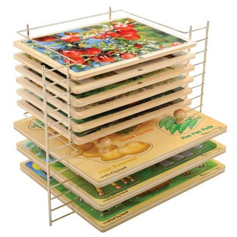 and doug puzzle rack deluxe wire puzzle rack by doug