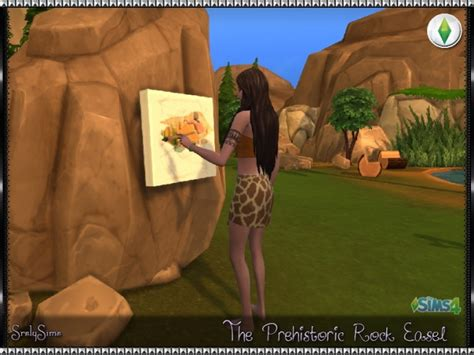 prehistoric rock easel  srslysims sims  updates