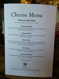 Cheese Menu Picture Of The Bar At The Crown Of Crucis