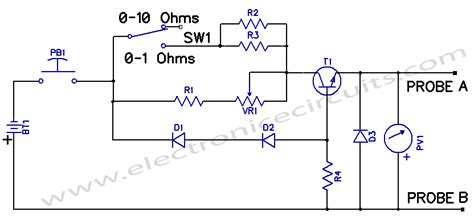 Low Resistance Measuring Meter Electronic Circuits