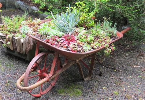metal platform bed 25 wheelbarrow planter ideas for your garden garden