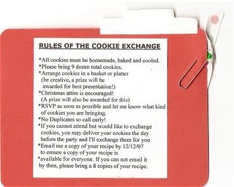 cookie exchange rules maggie s dinner dates your cookie exchange ms johnson