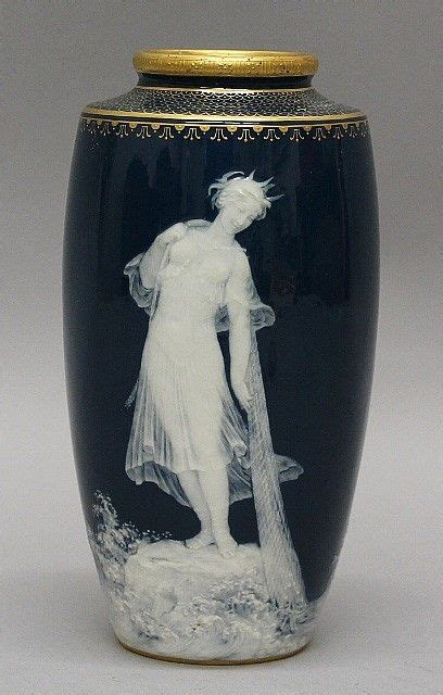 mintons pate sur pate vase signed  reverse stamped