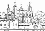 London Coloring Pages Tower Kingdom United Printable Drawing Paper Sketch Castles Crafts sketch template