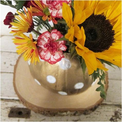 perfect pumpkin flower vase  fall