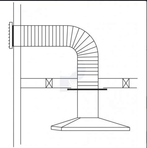 Rangehood Wall Ducting Kit, Flexible Ducting, Ranghood