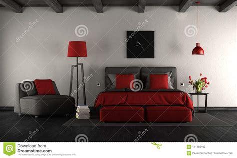 da letto nera e da letto principale moderna nera e rossa