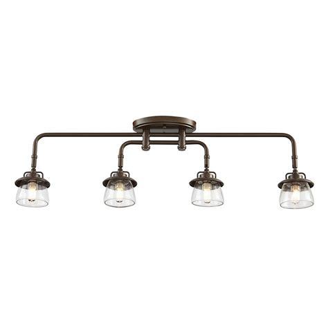 lowes kitchen track lighting allen roth bristow 4 light specialty bronze standard